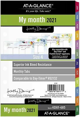 2021 At-a-glance Monthly Planner Refill 52132 Day-timer 5.5 X 8.5 Size 4