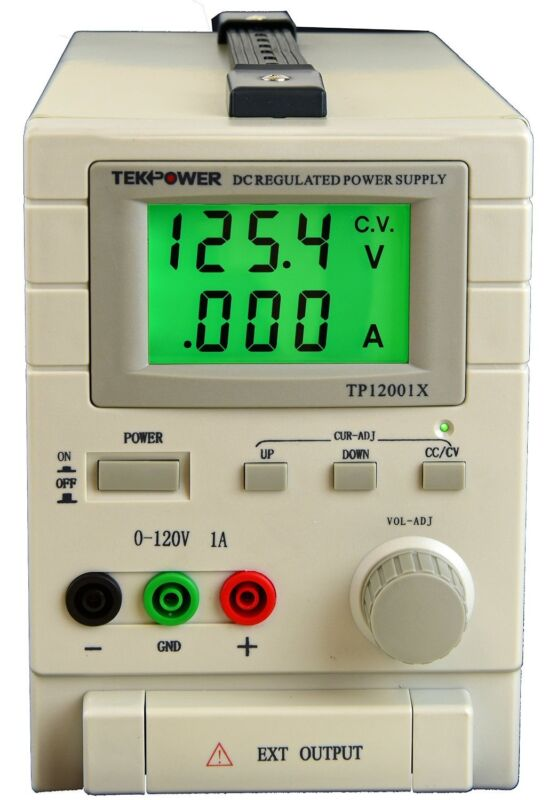 TekPower TP12001X 120V 1A DC Variable Switching Power Supply Output