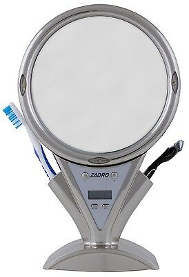 Zadro 5X-1X LED Lighted Power Zoom Cordless Shower Fogless Mirror Z900SS