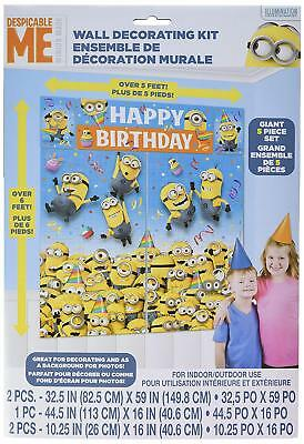Despicable Me Minion Scene Wall Banner Decorating Kit Birthday Party Supply - Birthday Minion