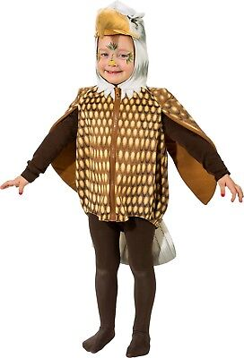 Kleinkind Mädchen Jungen Braun Adler Vogel Tier Karneval (Junge Vogel Kostüm)