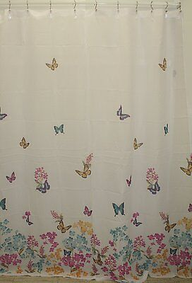 Butterfly Fabric Shower Curtain Butterflies Multi-Color 70x72 Bathroom Tub](Butterfly Bathroom)