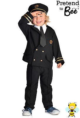 CHILDRENS KIDS BOYS AIRLINE PILOT CAPTAIN UNIFORM OUTFIT COSTUME + CAP AGE 3-5-7