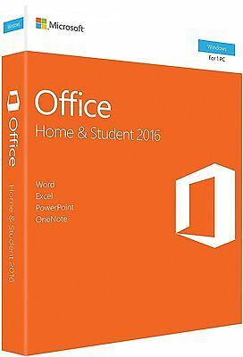 Microsoft Office Home And Student 2016 Windows English Pc Key Card   79G 04589