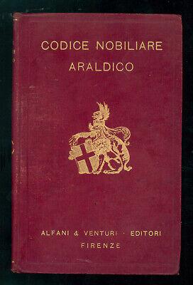 DEGLI AZZI G. CECCHINI G. CODICE NOBILIARE ARALDICO ALFANI & VENTURI 1928