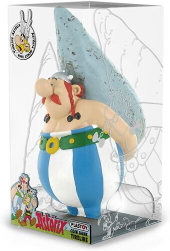 Obelix plastic Menhir figurine money bank Plastoy Official Asterix collection