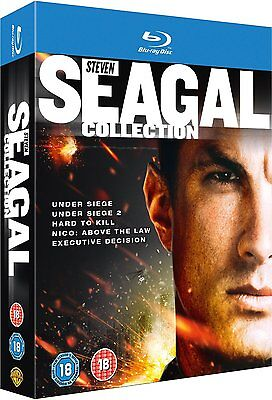 Steven Seagal Collection  Blu Ray 5 Movie Box Set  Under Siege 1 2 Hard To Kill