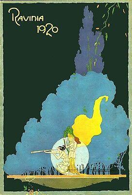 3315.Ravinia Goddess 1920 Deco Nouveau Travel POSTER.Home Room art decoration