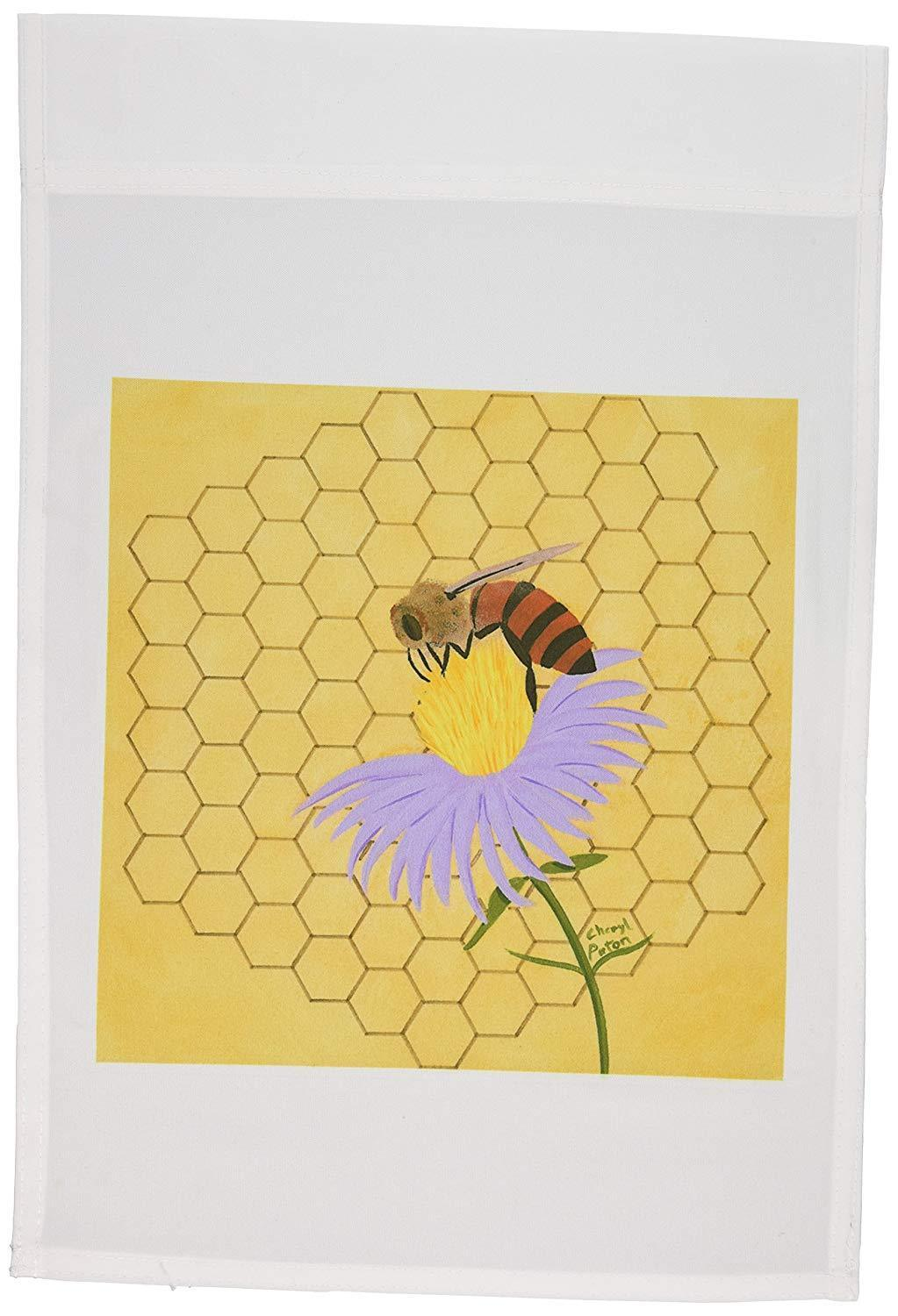 3dRose Honey Bee on Flower Garden Flag, 12 by 18-Inch, NWT!