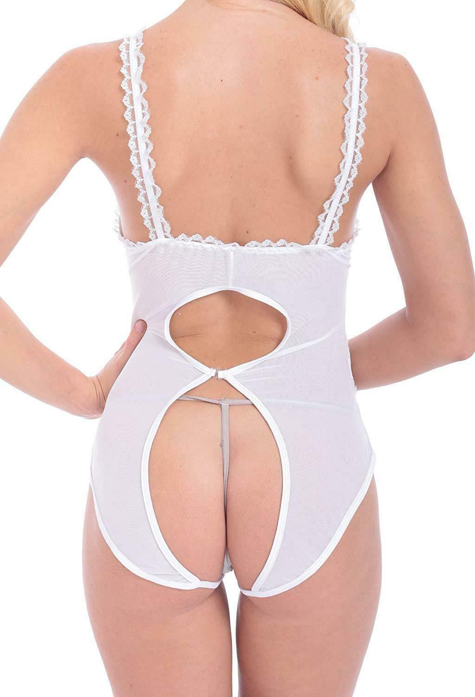 Sexy Women Lace Underwear Lingerie Open Bra Crothless Babydoll Dress Sleepwear Clothing, Shoes & Accessories