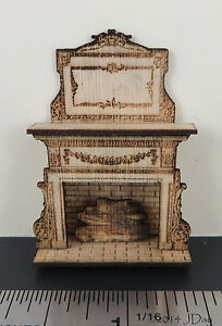 KIT-Embellished-Fireplace-Laser-Cut-Kit-in-quarter-scale-1-48-1-4-034-by-Jean-Day