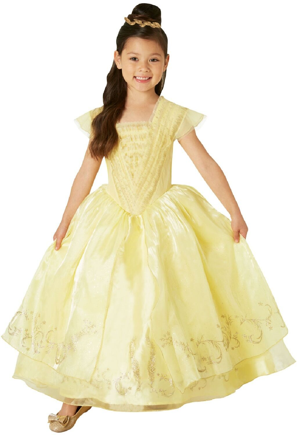 3fe928958 Girls Premium Disney Princess Belle Beauty and the Beast Dress Costume  Outfit