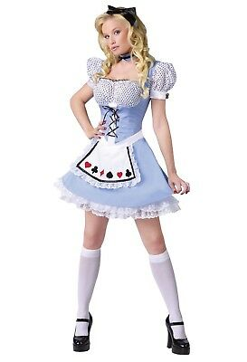 Alice in Wonderland Storybook Adult Women Costume, Small/Medium