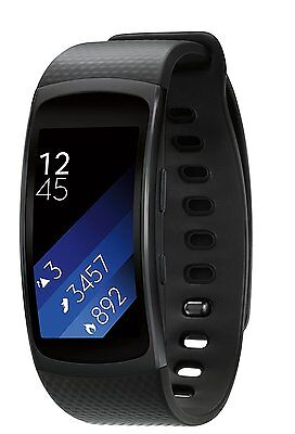 Brand New Sealed Samsung Gear Fit 2 Android Smartwatch Large Black FIT2 Watch