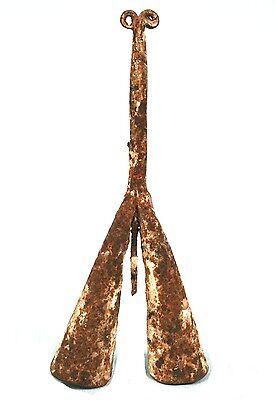 Art African Tribal - Antique Bell Cérémonielle Fon - Iron Ritual - 22 CMS