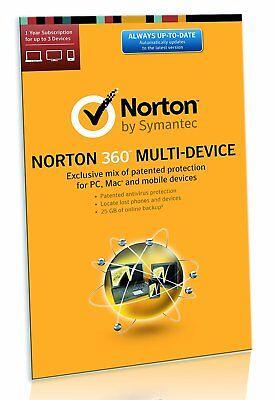 Norton 360  3 Device  1Year   Norton Security