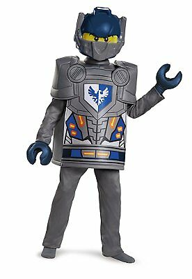 Lego Knight Costume (Lego Clay Costume Kids Boys, Complete Halloween Costume with Mask, 10-12)