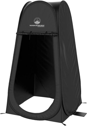 Portable Stand-Up Pop Up Pod Privacy Tent Black Shower Changing Tent w Carry Bag