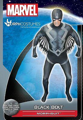 new marvel Morphsuits Black Bolt Adult Fancy Dress Costume size X-L