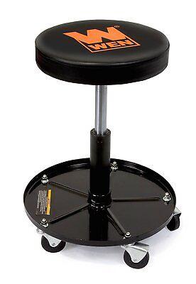 Pneumatic Shop Stool (Heavy Duty Rolling Mechanics Seat Rolling Stool Chair Tools Auto Shop Pneumatic)