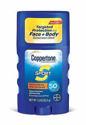 Coppertone Spf 50 (Coppertone SPORT Sunscreen Stick Broad Spectrum SPF 50 (1.5 Oz))
