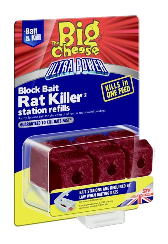 The Big Cheese Ultra Power Block Bait Station Refils
