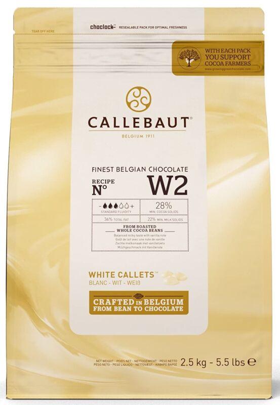 Callebaut W2 28% White Chocolate Callets 5.5 lbs baking chocolate