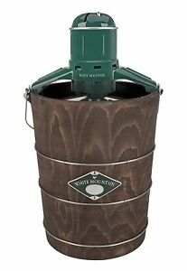 White Mountain Electric Ice Cream Maker with Appalachian Series Wooden Bucket, 6
