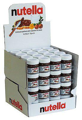 (28,12€/1kg) Nutella 25g Mini - Design Glas, 64er Pack (64 x 25g)