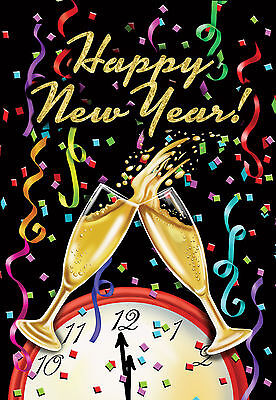 FM01 HAPPY NEW YEAR CHAMPAGNE  PARTY NEW YEARS 12