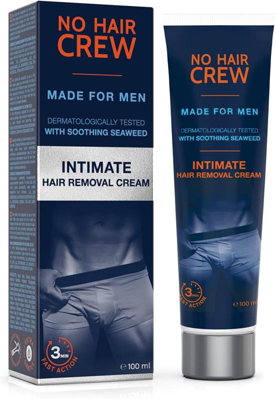 NO HAIR CREW Premium Enthaarungscreme für den Intimbereich extra Haarentfernung