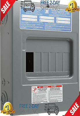 Indoor Main Lug Load Center 100 Amp Electrical Sub-panel Box 6 Space 12 Circuit.