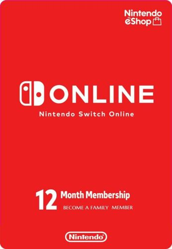 Nintendo Switch Online Family Membership 12-Month - Digital Code - 7 memberships