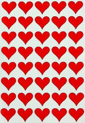 Red Heart Shape Valentines Day Stickers Color Coded Labels For Projects 400 Pack](Valentines Coloring)