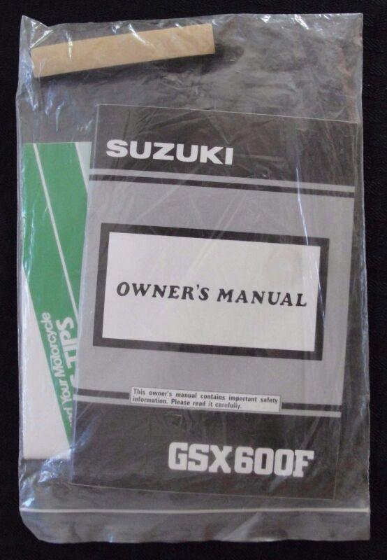 GENUINE 1990 1991 SUZUKI 600 GSX600F MOTORCYCLE OWNER