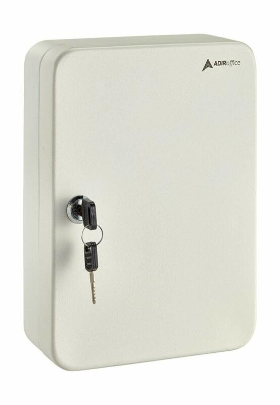 AdirOffice White Steel 48 Key Mountable Secure Home Auto Storage Key Cabinet