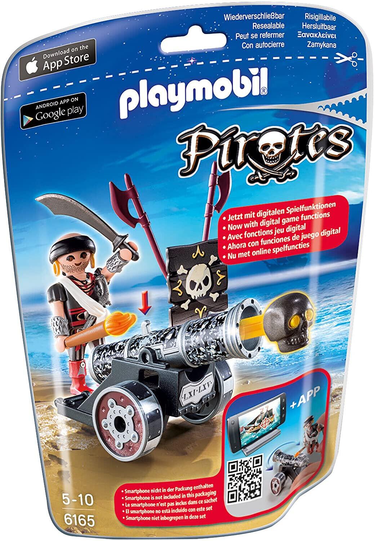Playmobil Pirates 6165 Kanone mit Seeräuber Digitale Spielfunktion App Spielzeug