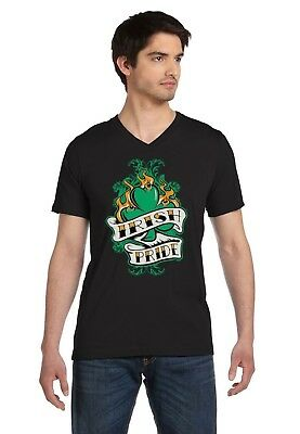 Irish Pride - St.Patricks Day Patty's Gift Shamrock Cool V-Neck T-Shirt Apparel