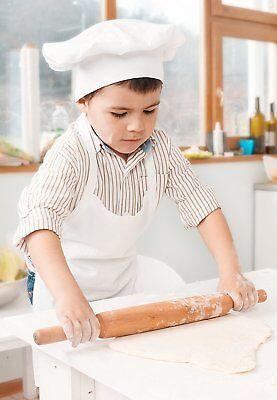 Kinder Kochmütze, Kinderschürze zum bemalen aus Fair Trade Baumwolle Koch - Koch Schürze Kostüm