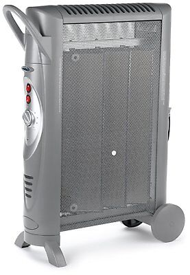 Bionaire Silent Micathermic Console Heater Room Space Heat Office, Gray