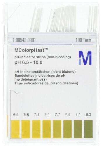 LOT 10 - 100 EMD Millipore MColorpHast Non-Bleeding pH-Indicator Strips 6.5-10.0