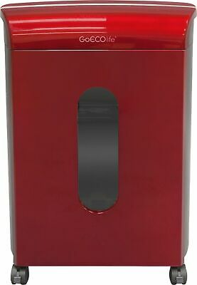 Goecolife Limited Edition 10 Sheet Microcut Shredder 3.5-gallon Bin Red
