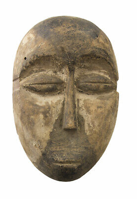 Mask Passport African Galoa Gabon Wood 14cm Galwa Art First 16681