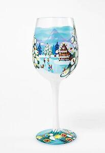 Lolita Wine Glasses Hand Painted Winter Magic Christmas Wine Glass Xmas Gift