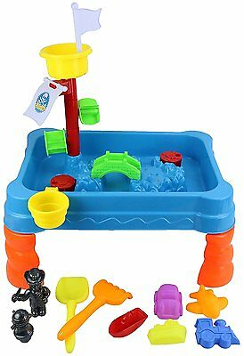 Sand and Water Pirate Play Table Kids Outdoor Garden Game with Sandpit Toys 314