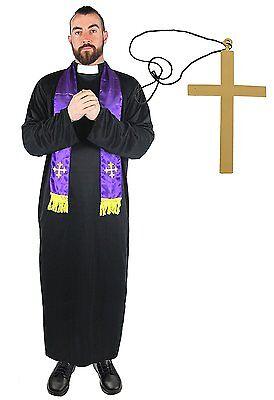 Déguisement religieux d'homme d'église, curé, prêtre pour homme avec une (Kostüm Pour Homme)