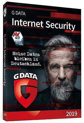 G Data Internet Security 2019 * 1 PC 1 Jahr * Lizenz GData DE Vollversion ()