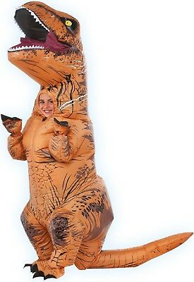 Kinder Aufblasbar Jurassic World Park T-Rex Dinosaurier Kostüm Kleid Outfit ()