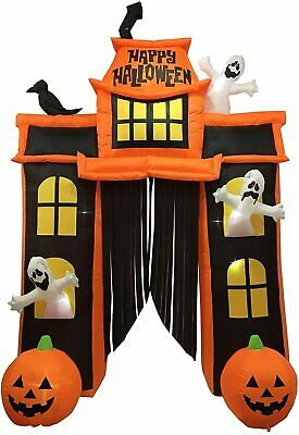 10 Ft. Inflatable Outdoor Haunted House Archway Halloween Decoration LED Lights