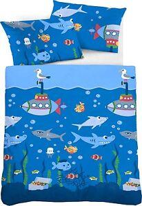 biberna bettw sche babybettw sche unterwasser biber flanell 100 135 neu ebay. Black Bedroom Furniture Sets. Home Design Ideas